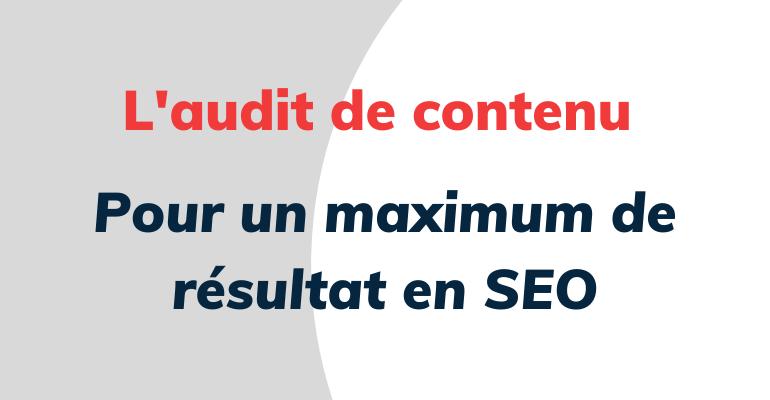 audit de contenu seo
